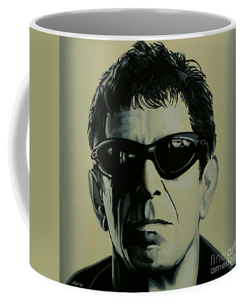 Lou Reed Coffee Mug featuring the painting Lou Reed Painting by Paul Meijering