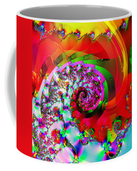 Fractal Coffee Mug featuring the mixed media Loud N Proud by Kevin Caudill
