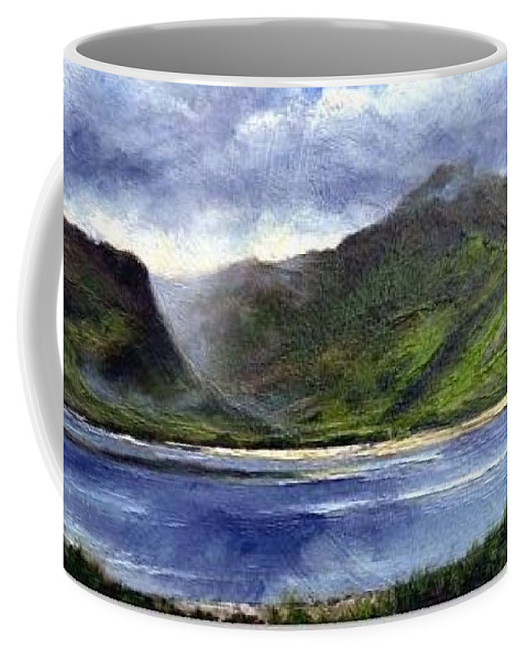 Irish Coffee Mug featuring the painting Loughros Bay Ireland by Jim Gola