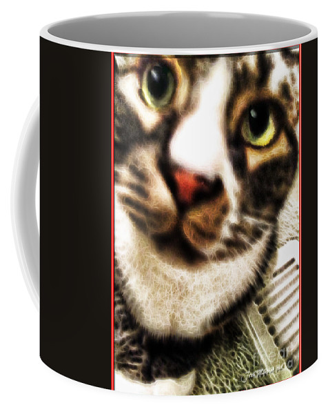 Cat Coffee Mug featuring the photograph Louis Iv Up Close by Joan Minchak