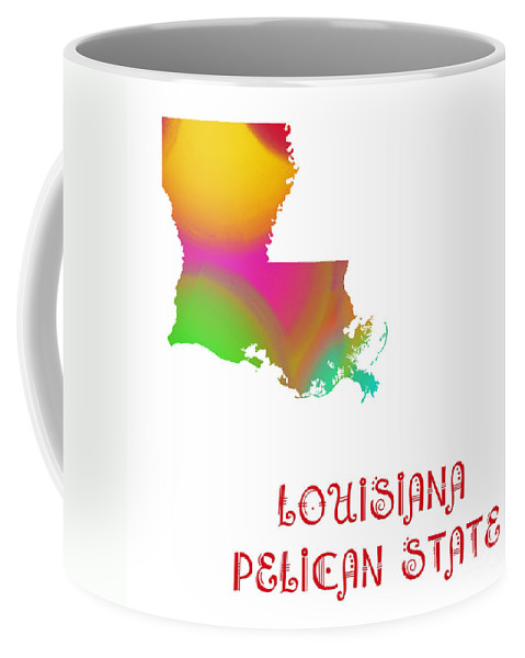 Andee Design Coffee Mug featuring the digital art Louisiana State Map Collection 2 by Andee Design