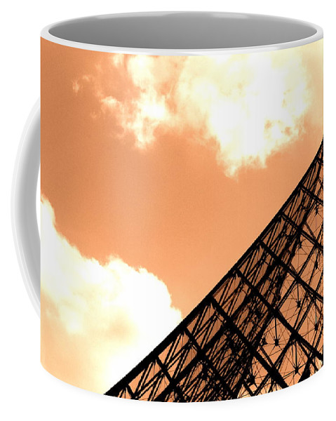 Paris Coffee Mug featuring the photograph Louvre Pyramid Top Edited by Nicholas Miller