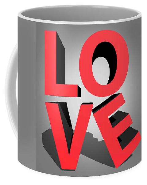 Love Coffee Mug featuring the digital art Love 2 by Mark Ashkenazi