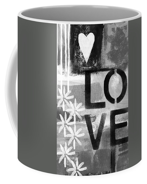 Love Coffee Mug featuring the painting Love- abstract painting by Linda Woods