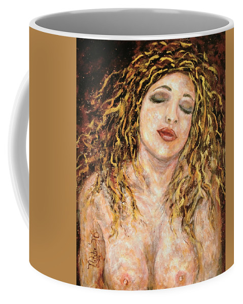 Nude Coffee Mug featuring the painting Love And Desire by Natalie Holland