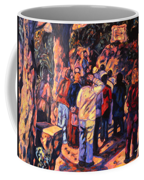 Kendall Kessler Coffee Mug featuring the painting Love Gardens In Coimbra University by Kendall Kessler