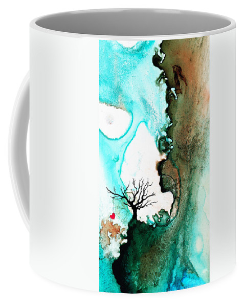 Heart Coffee Mug featuring the painting Love Has No Fear - Art By Sharon Cummings by Sharon Cummings