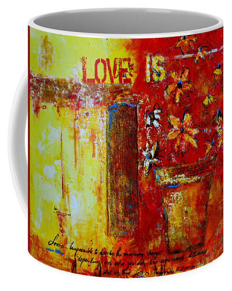 Love Is Coffee Mug featuring the painting Love Is Abstract by Patricia Awapara