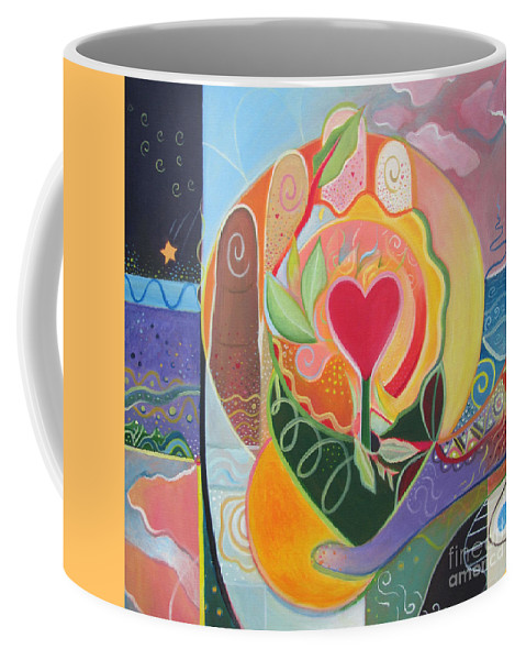Love Coffee Mug featuring the painting Love Is Love by Helena Tiainen