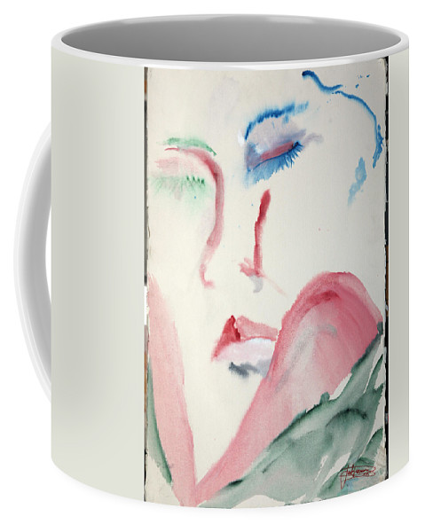 Red Coffee Mug featuring the painting Love Rest by Jack Diamond