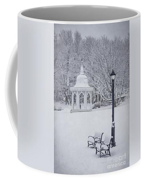 Bar Harbor Coffee Mug featuring the photograph Love Through The Winter by Evelina Kremsdorf