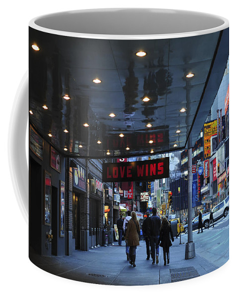 Love Wins Nyc Coffee Mug featuring the photograph Love Wins Nyc by Terry DeLuco