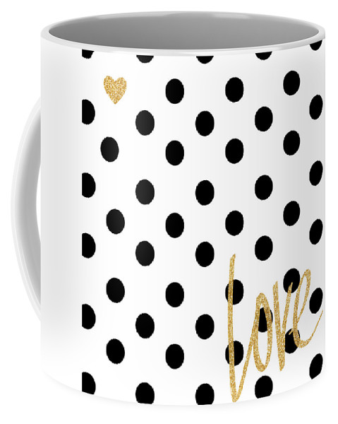 Love Coffee Mug featuring the digital art Love With Dots by South Social Studio