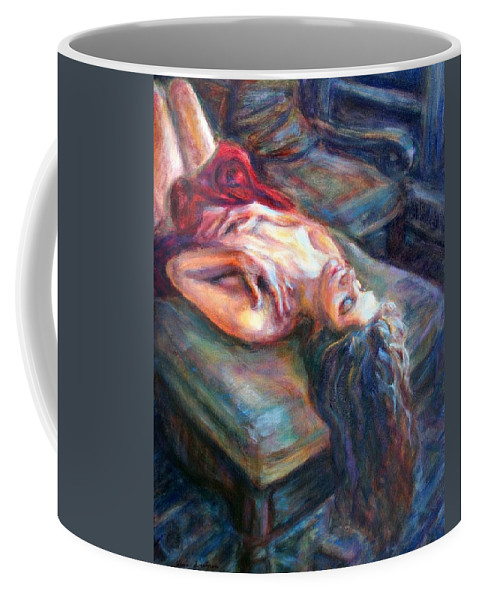 Impressionism Coffee Mug featuring the painting Loved by Quin Sweetman