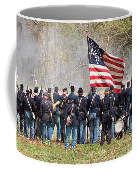 Civil War Reenactment Coffee Mug featuring the photograph Lovely Flag by Alice Gipson