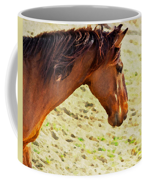 Horse Coffee Mug featuring the photograph Lovely Head by Alice Gipson