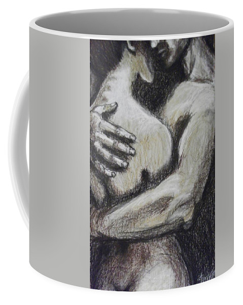Original Coffee Mug featuring the painting Lovers - Never Let Me Go by Carmen Tyrrell