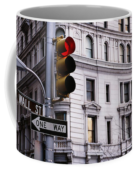 Photography Coffee Mug featuring the photograph Low Angle View Of A Traffic Light by Panoramic Images