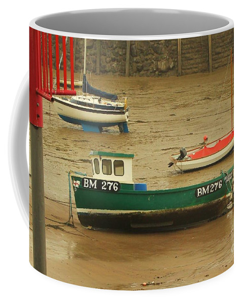 Boats Coffee Mug featuring the photograph Low Tide Blues by Rene Triay Photography