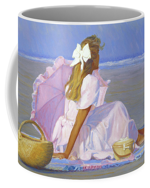 Impressionist Coffee Mug featuring the painting Low Tide Lady by Candace Lovely