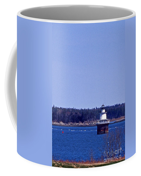 Lighthouses Coffee Mug featuring the photograph Lubec Channel Lighthouse by Skip Willits
