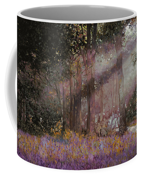 Wood Coffee Mug featuring the painting Luci by Guido Borelli