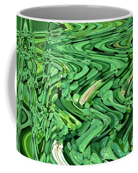 Four Coffee Mug featuring the photograph Lucky Clovers by Carol Lynch