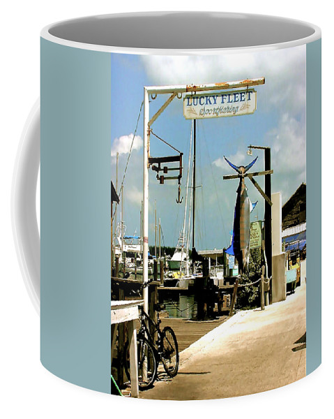 Key West Fishing Coffee Mug featuring the painting Lucky Fleet Key West by Iconic Images Art Gallery David Pucciarelli