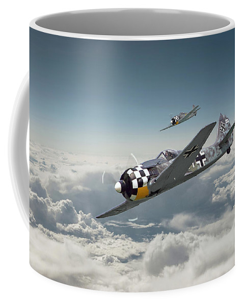 Aircraft Coffee Mug featuring the photograph Luftwaffe - Fw190 by Pat Speirs