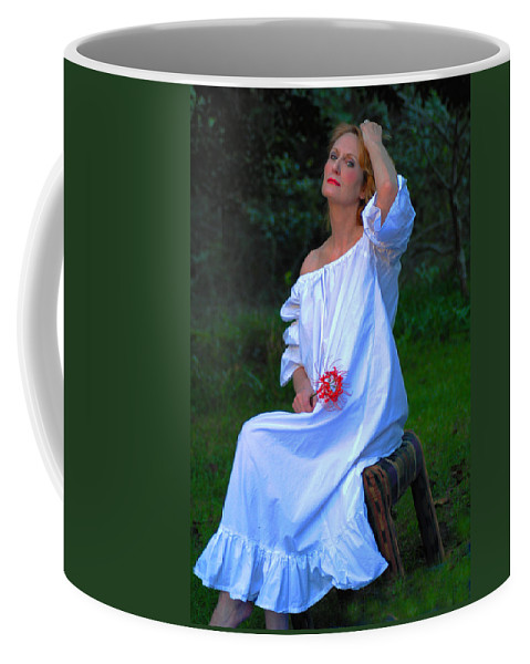 Victorian Gowns And Lingerie Coffee Mug featuring the photograph Luminous by Pamela Smale Williams