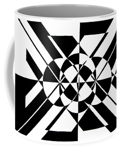 Abstract Coffee Mug featuring the painting Lunar City by Crystal Hubbard