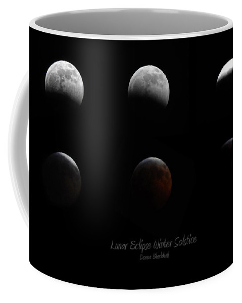 Moon Coffee Mug featuring the photograph Lunar Eclipse Winter Solstice by Donna Blackhall