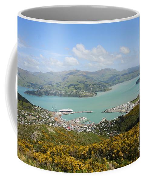 Lyttelton Coffee Mug featuring the photograph Lyttelton Harbor by Gal Eitan