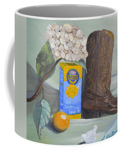 Country Coffee Mug featuring the painting Mac N Cheese by Scott Phillips