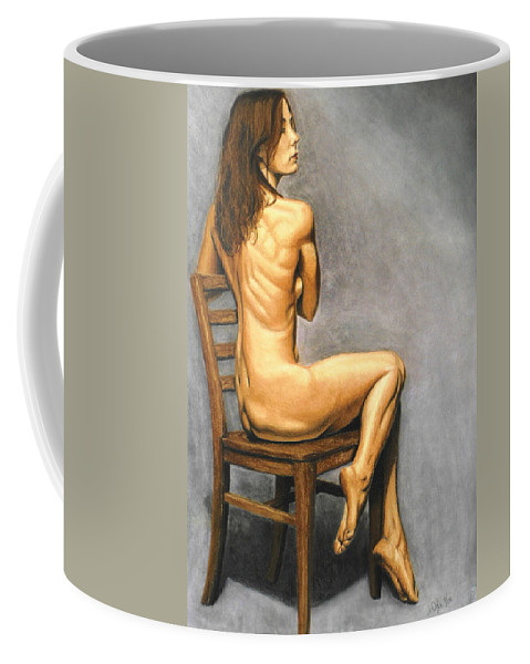 Joe Ogle Coffee Mug featuring the pastel Madame Brooke by Joseph Ogle