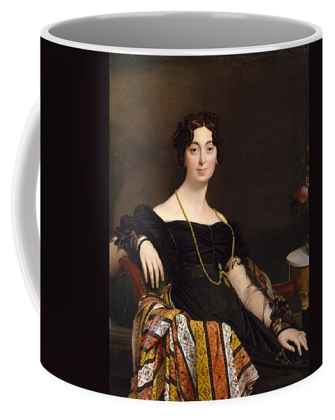 Jean-auguste-dominique Ingres Coffee Mug featuring the painting Madame Jacques-louis Leblanc. Francoise Poncelle by Jean-Auguste-Dominique Ingres