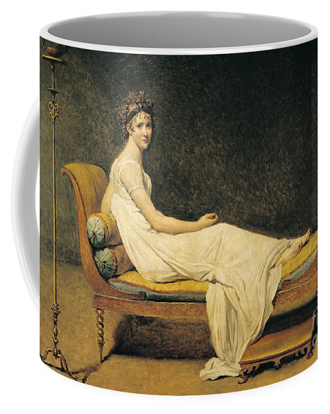 Portrait Coffee Mug featuring the painting Madame Recamier by Jacques Louis David