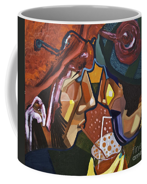 Share Coffee Mug featuring the painting Made For Sharing by James Lavott