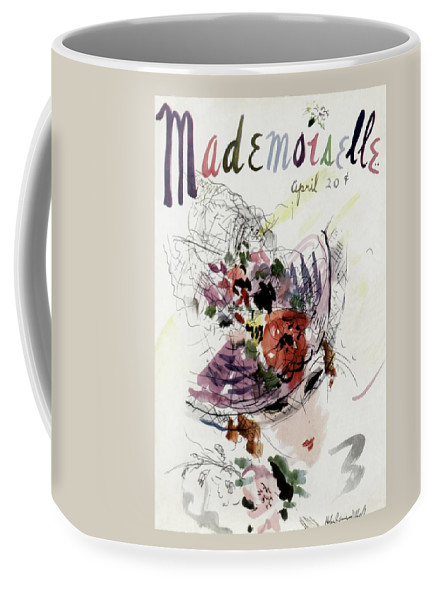 Fashion Coffee Mug featuring the photograph Mademoiselle Cover Featuring An Illustration by Helen Jameson Hall