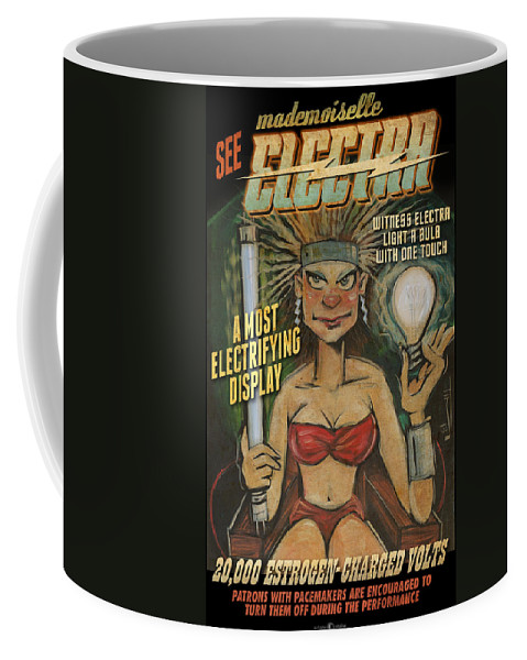 Hoax Coffee Mug featuring the painting Mademoiselle Electra Poster by Tim Nyberg