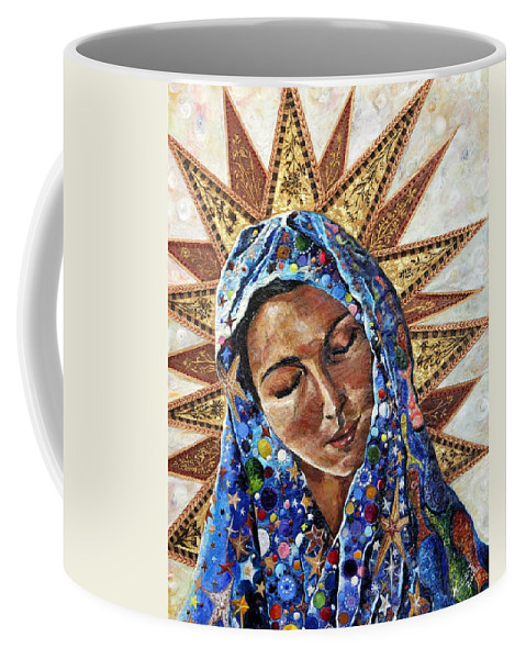 Madonna Coffee Mug featuring the painting Madonna Of The Dispossessed by Mary C Farrenkopf