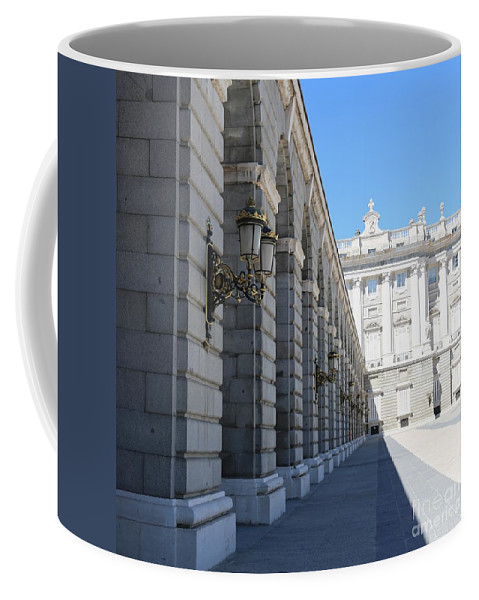 Madrid Coffee Mug featuring the photograph Madrid Palace Courtyard by Carol Groenen