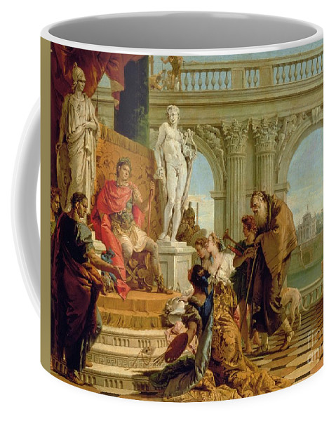 Literary Patron Coffee Mug featuring the painting Maecenas Presenting The Liberal Arts To The Emperor Augustus by Giovanni Battista Tiepolo