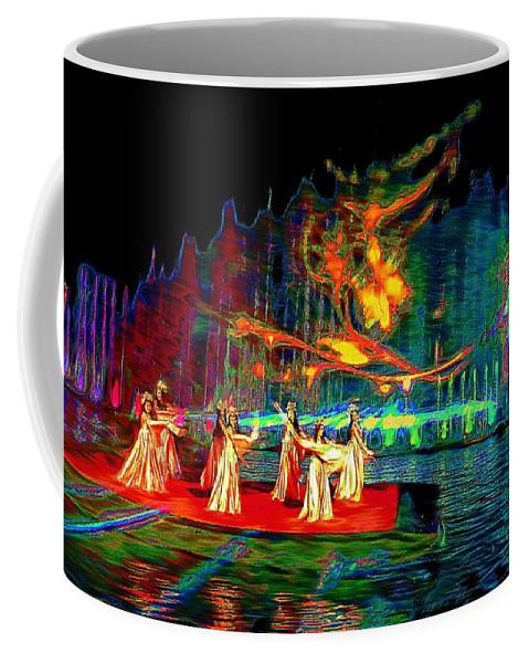 Dance Coffee Mug featuring the digital art Magic Carpet by Ian Gledhill