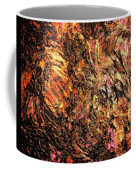 Canvas Prints Coffee Mug featuring the painting Magic Gold by Monique's Fine Art