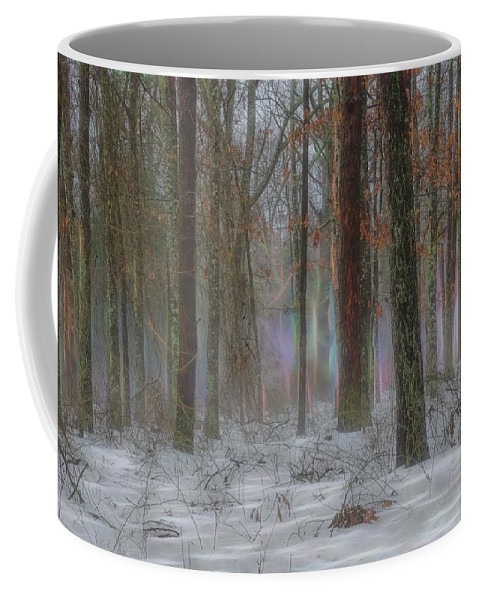 Fog Coffee Mug featuring the photograph Magic In The Fog 2 by Beth Sawickie