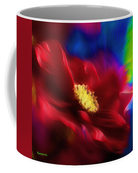 Abstract Coffee Mug featuring the painting Magical Rose by Georgiana Romanovna