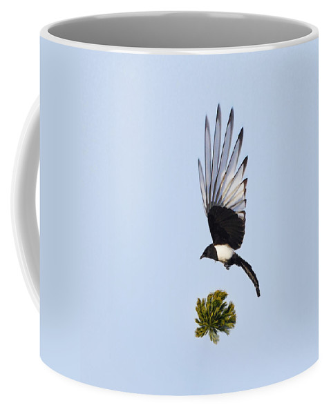 Common Magpie Coffee Mug featuring the photograph Magpie Dreams by Jouko Lehto