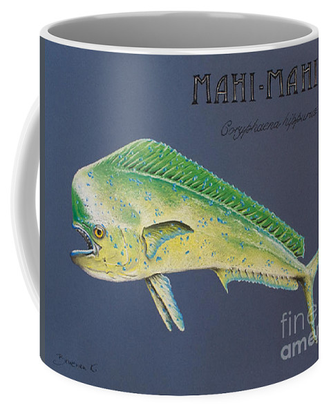 Mahi Mahi Coffee Mug featuring the pastel Mahi-mahi by Katharina Filus