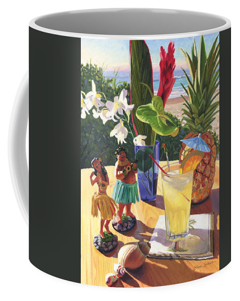 Mai Tai Coffee Mug featuring the painting Mai Tai by Steve Simon